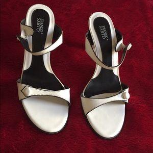Franco Sarto Patent Off White Sandals
